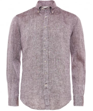 Fitted Body Washed Linen Shirt