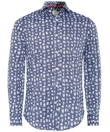 Slim Fit Insect Print Shirt