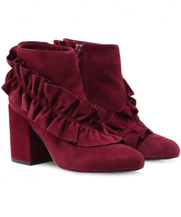 Suede Joelle Frill Boots