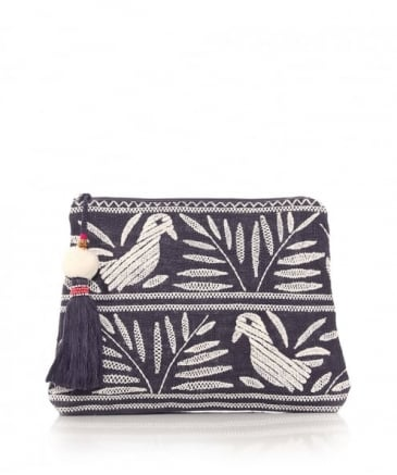 Embroidered Isi Bird Purse