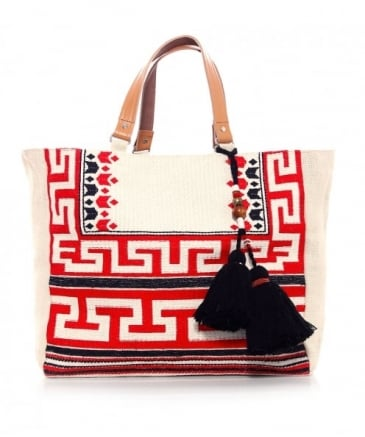 Embroidered Myra Tote Bag