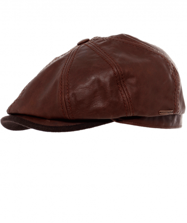Leather Hatteras Cap
