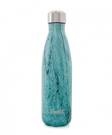 17oz Teal Wood Water Bottle