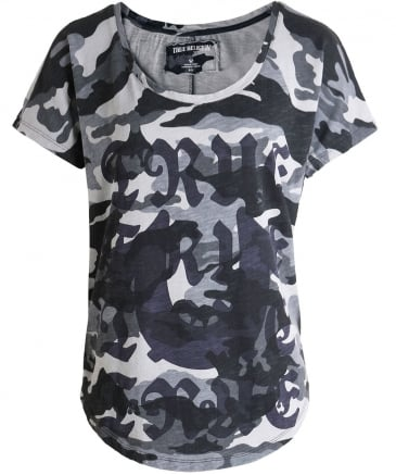 Scoop Neck Camo T-Shirt
