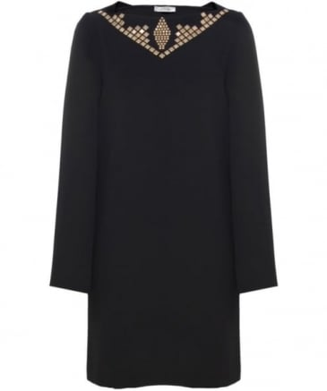 Studded Long sleeved Dress