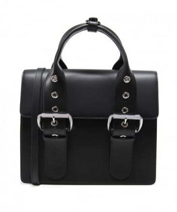 Leather Alex Two-Tone Buckle Handbag
